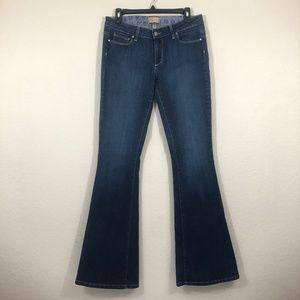 Paige Canyon Flare Womens Blue Denim Jeans Sz 30